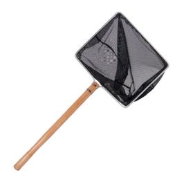 30x42cm Kescher mit 60cm langen Holzstiel und feinem Netz von 3x3mm