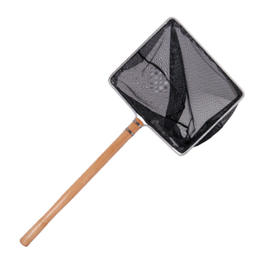 40x32cm Kescher mit 60cm langen Holzstiel und feinem Netz von 3x3mm