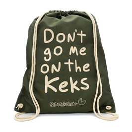 "SCHERZKEKS RUCKSACK ""DON'T GO ME ON THE KEKS"" - OLIVE"