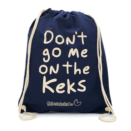 "SCHERZKEKS RUCKSACK ""DON'T GO ME ON THE KEKS"" - NAVY"
