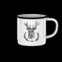 """Emailletasse """"Oh Deer"""""""