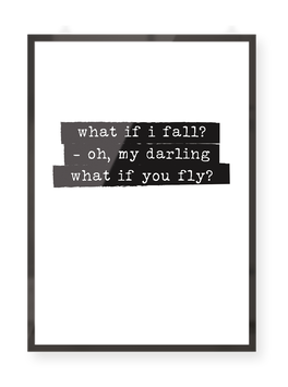 "Poster ""Oh darling"""