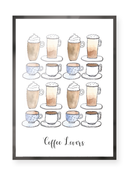 "Poster ""Coffee Lovers""."