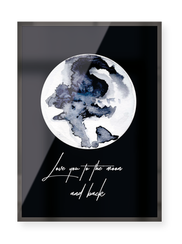 "Poster ""Love you to the moon"""