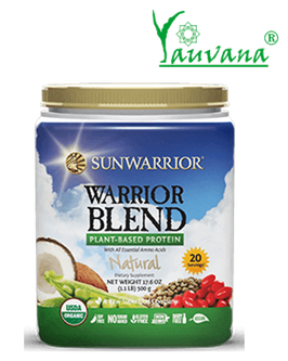 WARRIOR BLEND NATURAL (RAW Vegan Protein) 20 Porciones - Frasco x 500 g