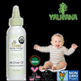Aceite Corporal Orgánico Caléndula y Manzanilla para Bebé - Frasco x 118 ml