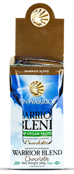WARRIOR BLEND CHOCOLATE (RAW Vegan Protein) Caja x 12 Sachets x 25 g c/u