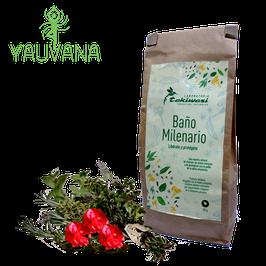 Baño de Florecimiento Milenario Elimina malas energías con tabaco negro y aceite esencial de palo de rosa - Bolsa x 50 g