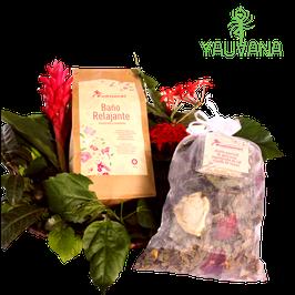 Baño de Florecimiento Relajante con pétalos de rosa y aceite esencial de palo de rosa - Bolsa x 50 g