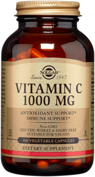 Vitamina C 1000 mg (Gluten Free, Vegano) - Frasco x 100 cápsulas