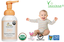 Jabón Espumoso de Manos Orgánico Lavanda para Bebé - Frasco x 237 ml