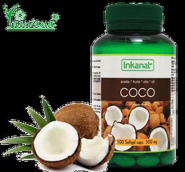 Aceite de Coco Orgánico - Frasco x 100 cápsulas