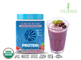 WARRIOR BLEND BERRY (RAW Vegan Protein) 15 Porciones - Frasco x 375 g