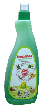 Desengrasante Natural Biodet-D3 - Frasco x 750 ml