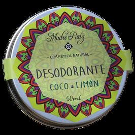 Desodorante Natural de Limón y Coco Grande - Envase x 50 ml