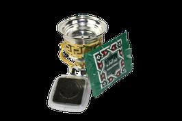 Bakhoor Brenner mit Bakhoor Al Watani 50g Packung