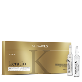 Allwaves Keratin – Lozione ristrutturante alla Cheratina 12x 10ml