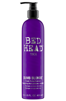 Tigi Bed Head Dumb Blonde Purple Shampoo Toning per Capelli Biondi 400ml