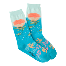 Women's Sea Turtles Crew Socks