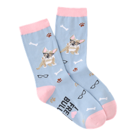 Women's French Bulldog Crew Socks
