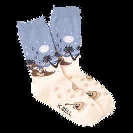 Women's Beach Cat Crew Socks