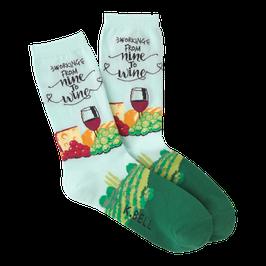 Women's Nine To Wine Crew Socks