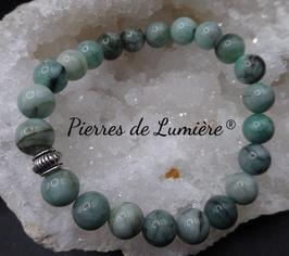Bracelet perles 8 mm Emeraude