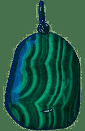 Pendentif pierre roulée Malachite