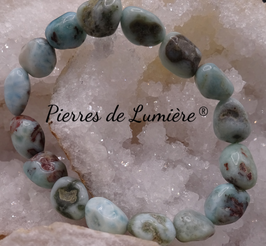 Bracelet nuggets +/- 10 mm Larimar