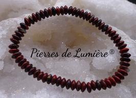 Bracelet rondelles Jaspe rouge