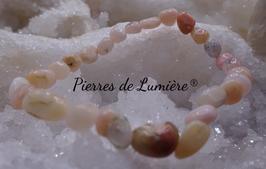Bracelet nuggets opale rose