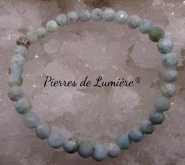 Bracelet perles facettées 5 mm Larimar