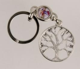 Porte-clés arbre de vie avec saint Christophe.