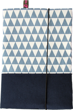 U-Heft - Blau-Dreiecke
