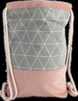 Modern - Rosé-Hellgrün-Dreiecke