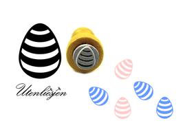 Osterei mit Streifen - Mikrostempel