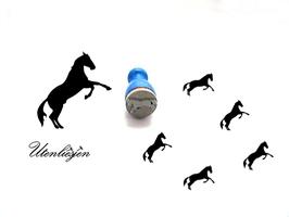 Pferd aufbäumend, laufend - mini Stempel