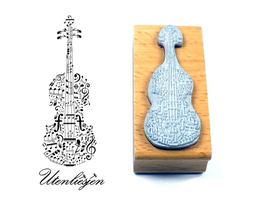 Cello mit Noten - Motivstempel