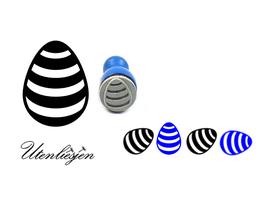 Osterei mit Streifen - Ministempel