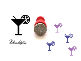 Cocktail, Cocktailglas - mini Stempel