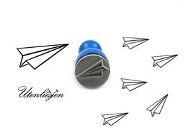 Papierflieger - mini Stempel