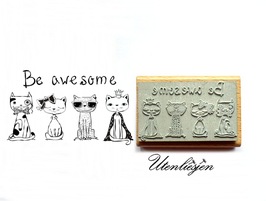 Be awesome -  Motivstempel