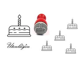 Geburtstagskuchen - mini Stempel