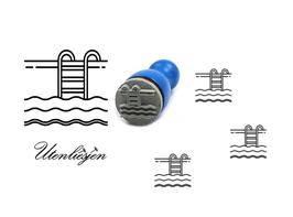 Schwimmbad - mini Stempel