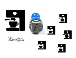 Kaffemaschine, Kaffeeautomat - mini Stempel