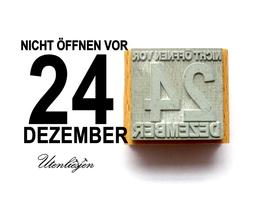 Nicht öffnen vor 24 Dezember - Motivstempel