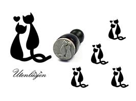 verliebte Katzen - mini Stempel