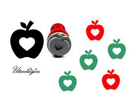 Apfel mit Herz - mini Stempel