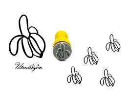 Banane - mini Stempel