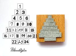 Adventskalenderzahlen Tannenbaum - Motivstempel